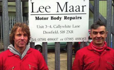 Photo of car body repair experts Lee and Martin